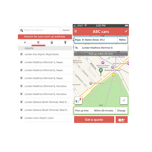 Driver Tracking Example from ubiCabs